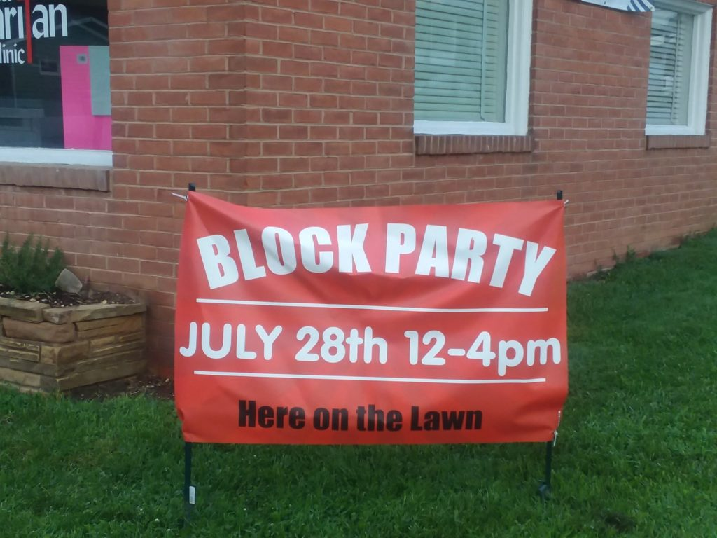 Good Sam's Block Party Banner
